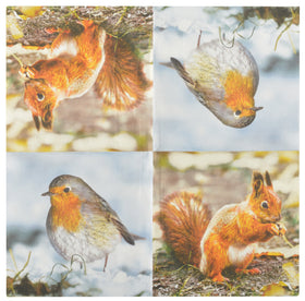 NAPKINS PAPER ROBIN/SQUIRREL