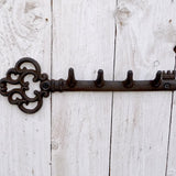 Cast Iron Decorative Key Shaped Key Hook