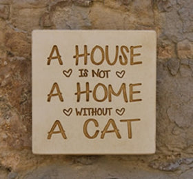Cat Plaque - Without a Cat