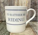 "Ceramic Coffee or Tea Mugs With Different ""I'd Rather Be"" Quotes"