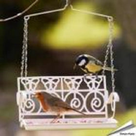 Swing Seat Bird Feeder French Style