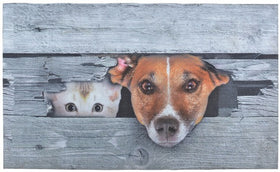 Doormat Printed Recycled Rubber Cat & Dog