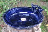 Bird Bath Ceramic Glazed