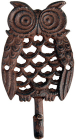 Cast Iron Owl Hook -  Single
