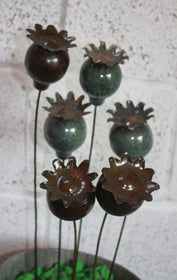 Poppy Seed Head Garden Stake/Ornament