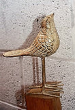 Bird Ornament - Golden