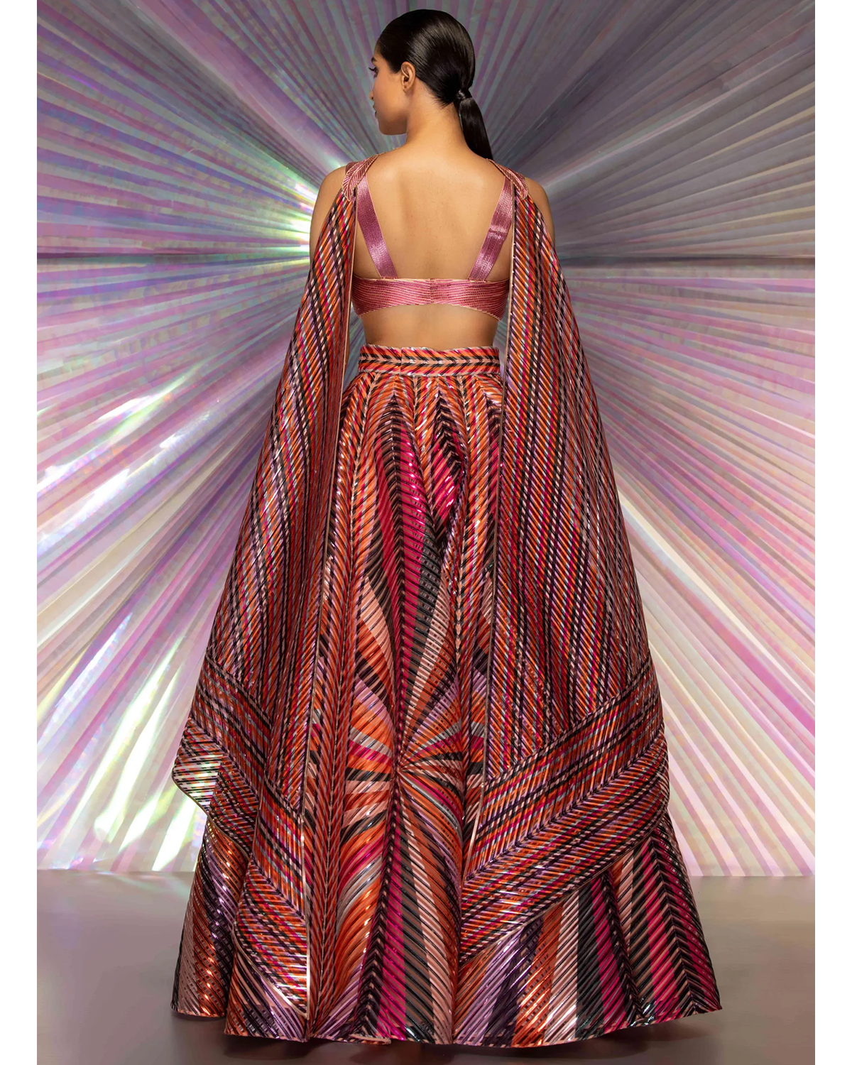 Black Shibori Wrap Dress