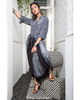 Gray and Black Shibori Dhoti Jumpsuit