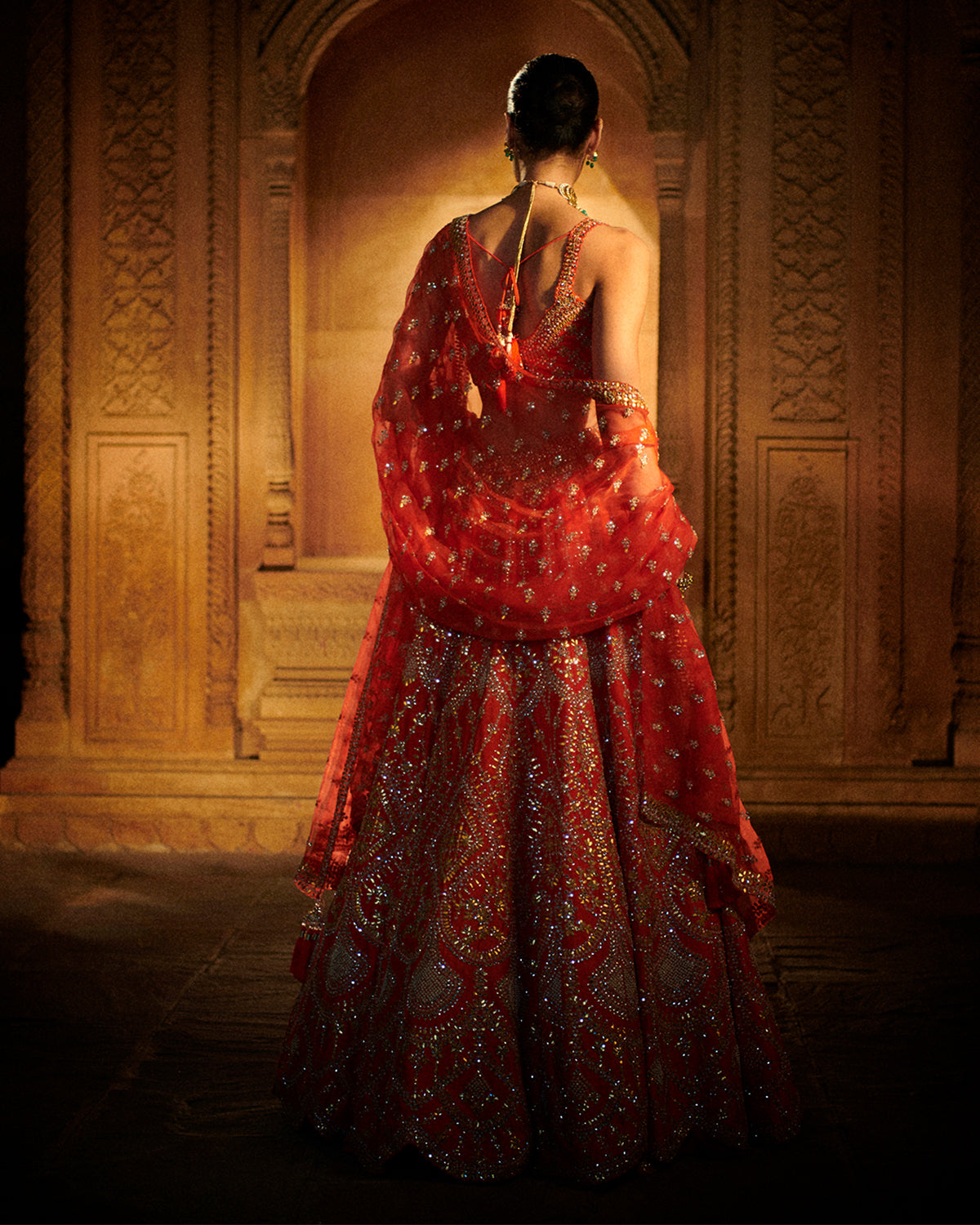 Persian Red Lehenga