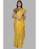 Yellow Lotus Blooming Foil Sari