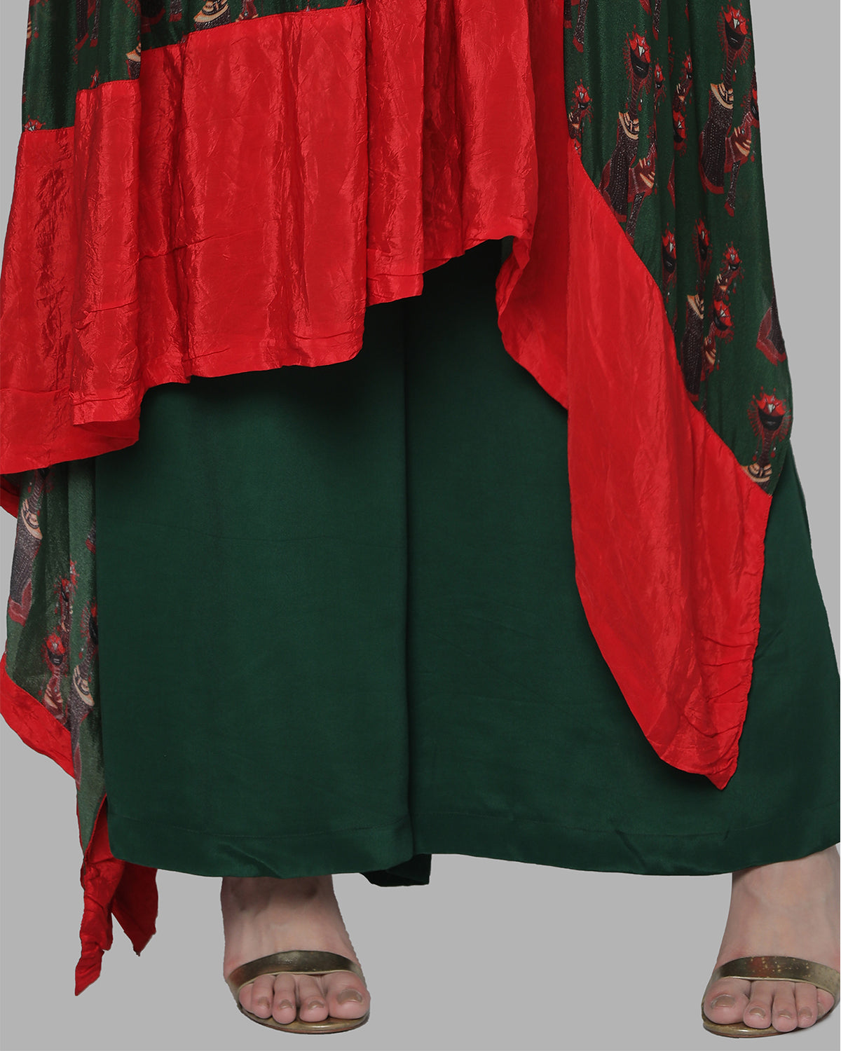 Green Nomads One-Shoulder Tunic