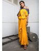 Yellow Bandhini A-line Skirt with Shibori Off Shoulder Top