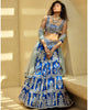 Blue Raw Silk Lehenga Set