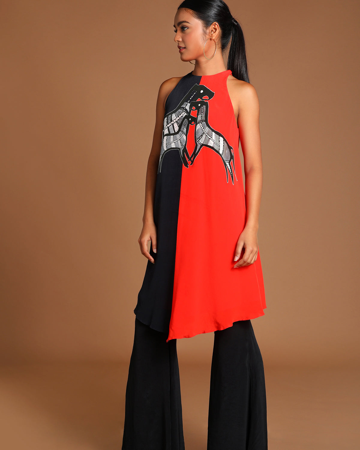 Red Horse Half & Half Outfit