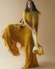 Camel Twig Print Hand Embroidered Cape Set
