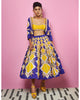 Purple and Yellow Midi Lehenga | Papa Don't Preach