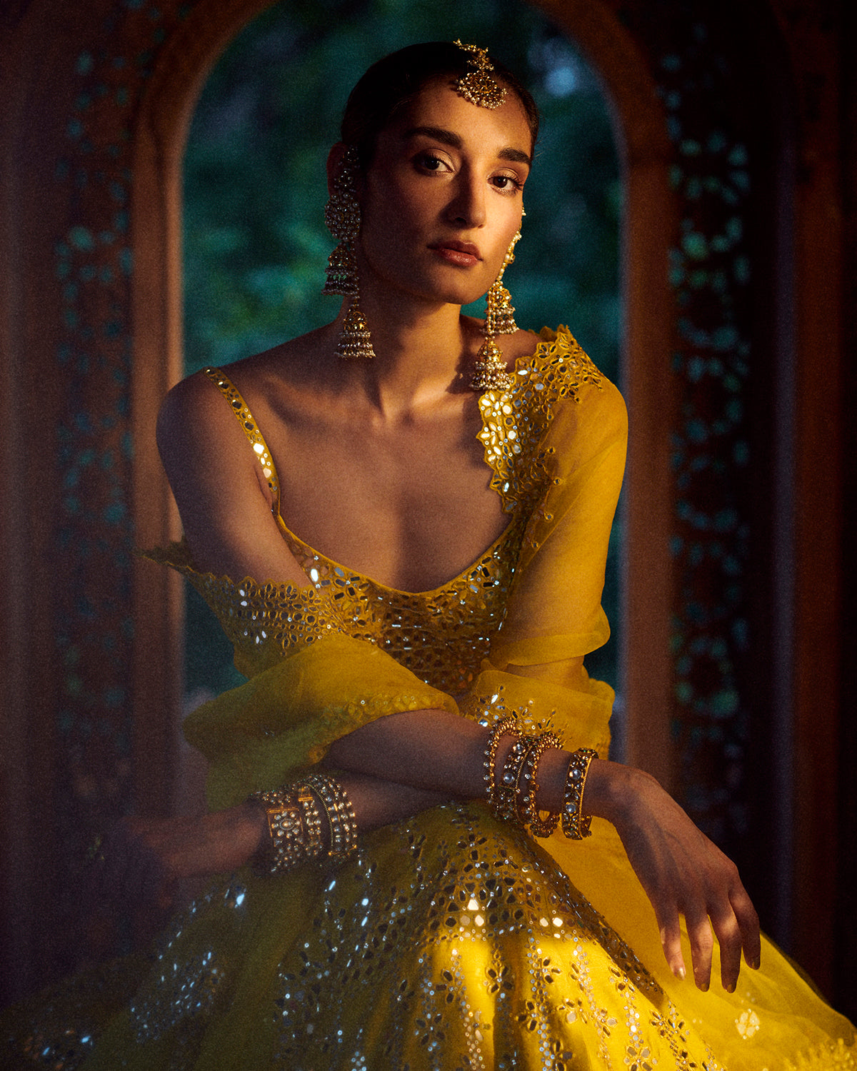 Seema Gujral Yellow Lehenga
