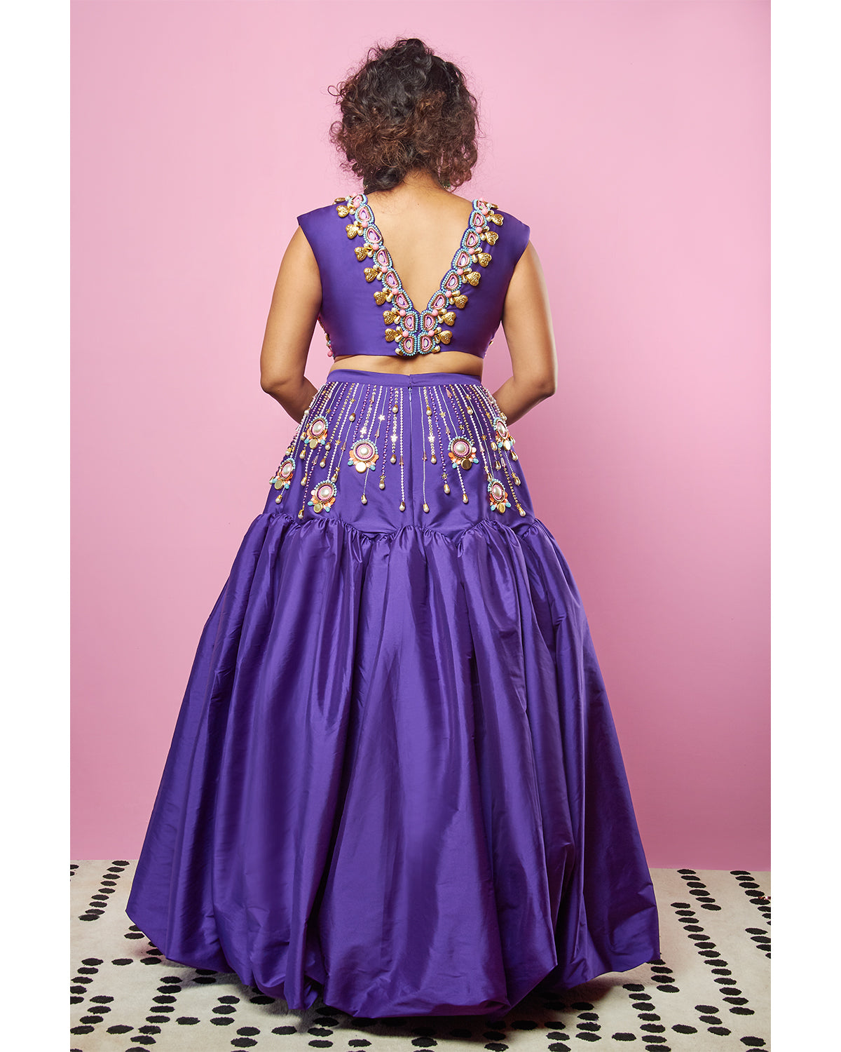 Purple Taffeta Lehenga | Papa Don't Preach