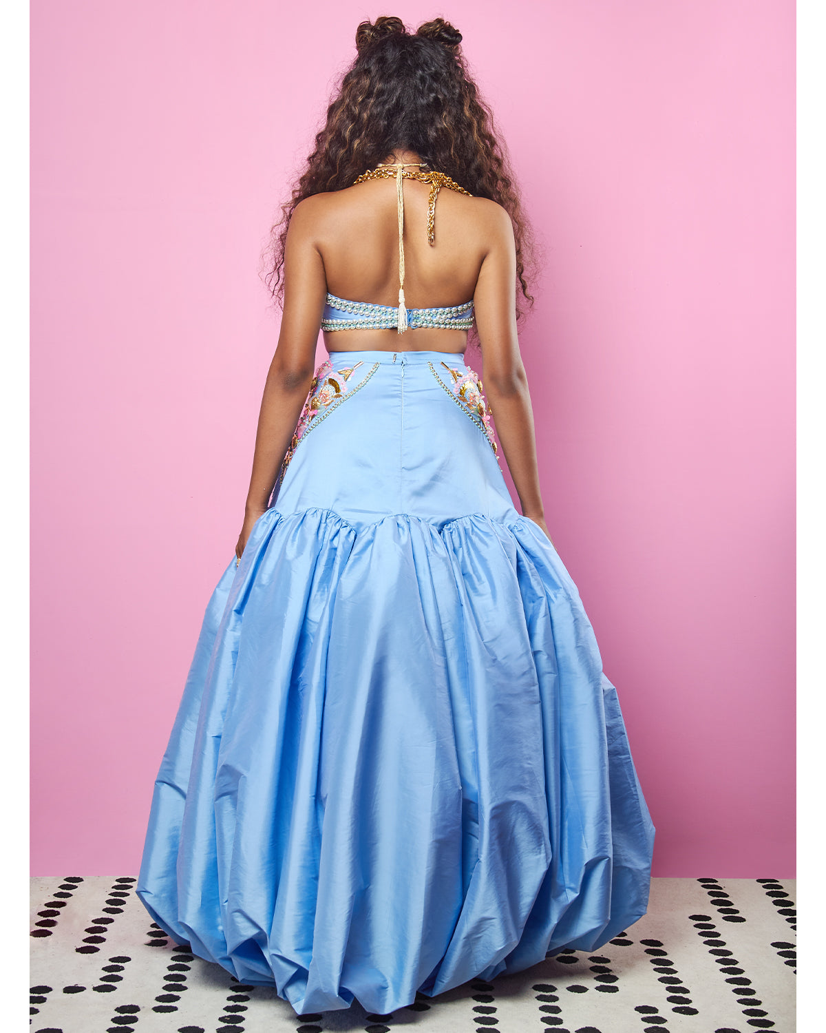 Tea-Pot Blue Lehenga | Papa Don't Preach
