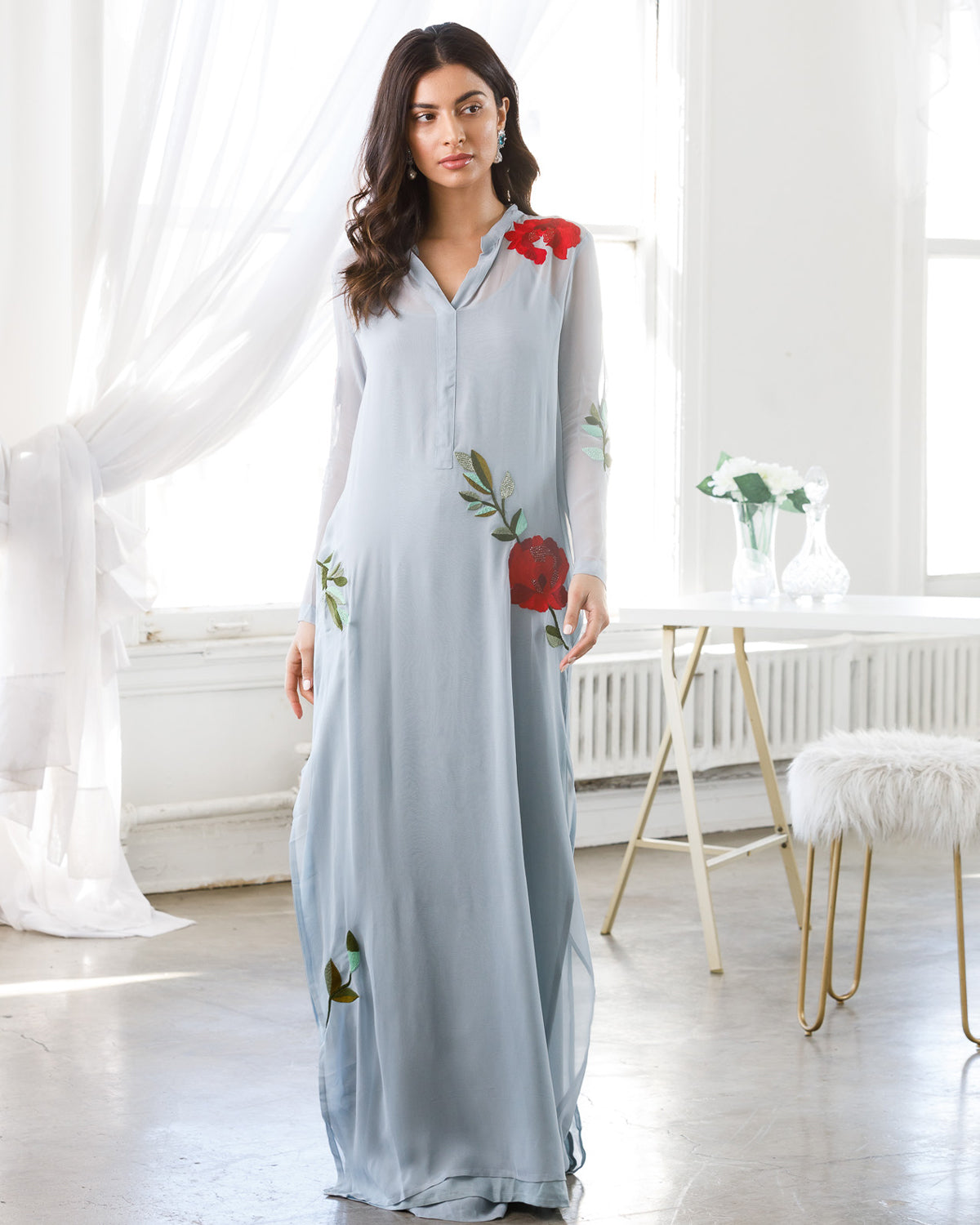 Dust Blue kaftan