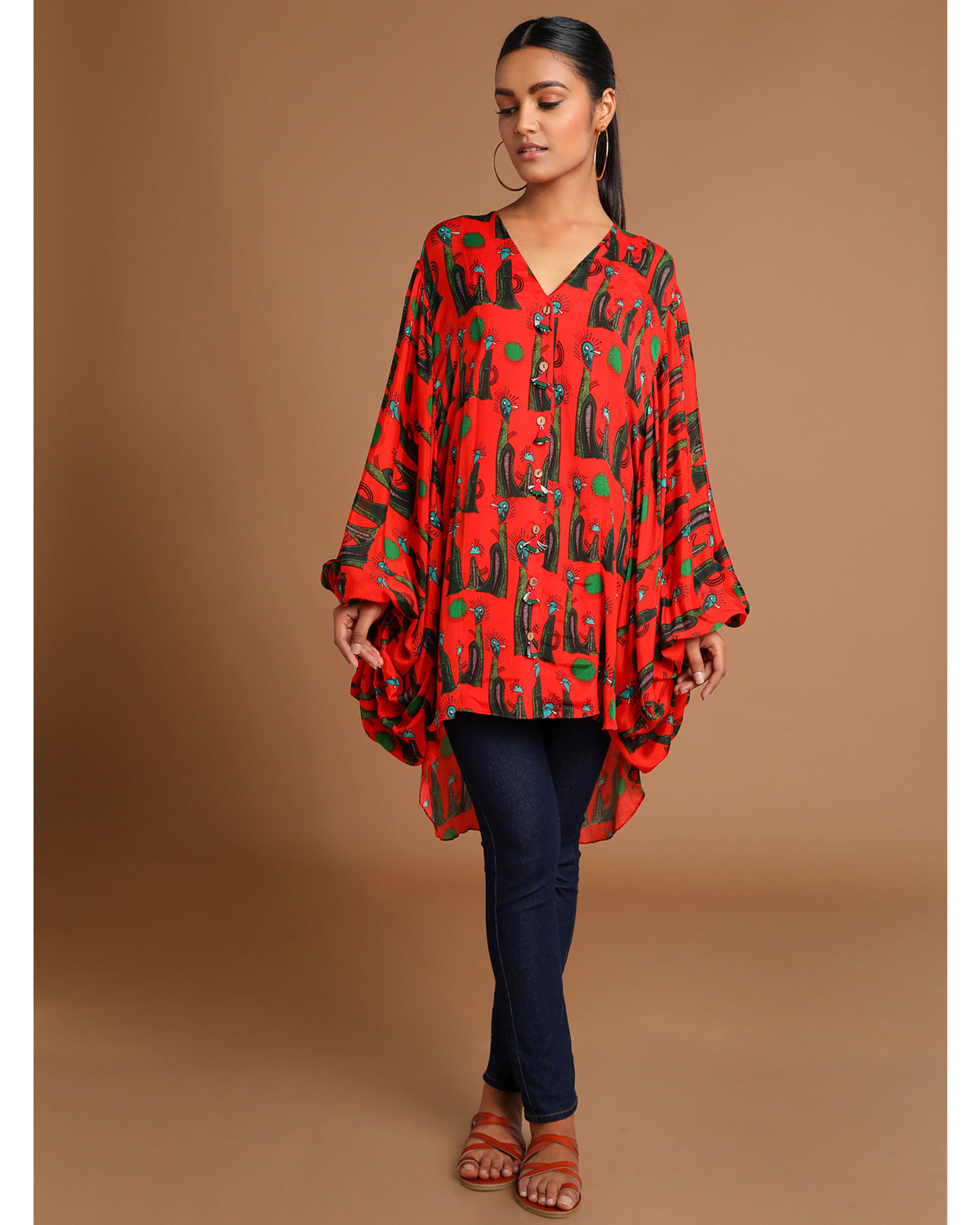 Red Pins and Needles Blouse