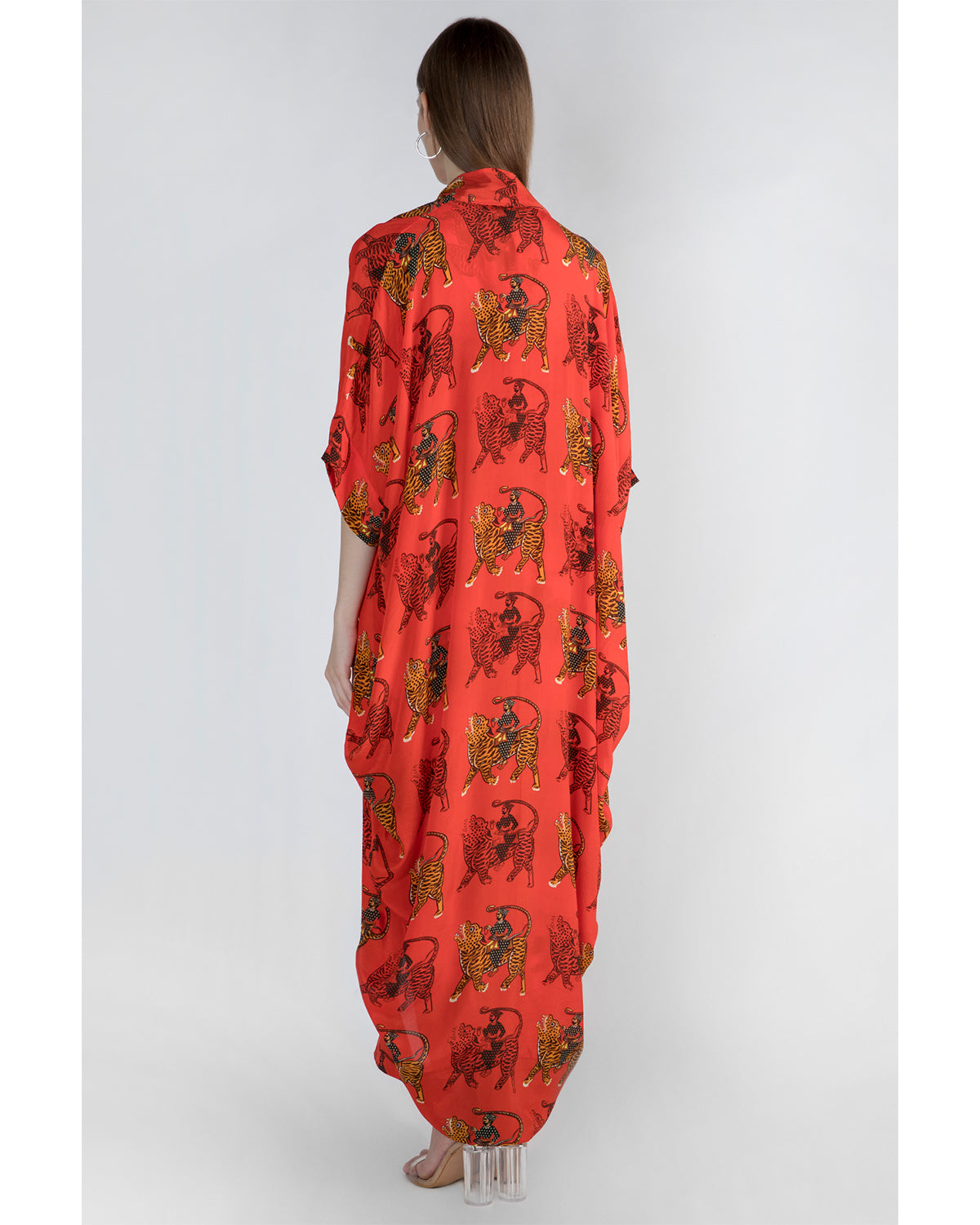 House of Red Sultan Cowl Top and Dhoti and Cape