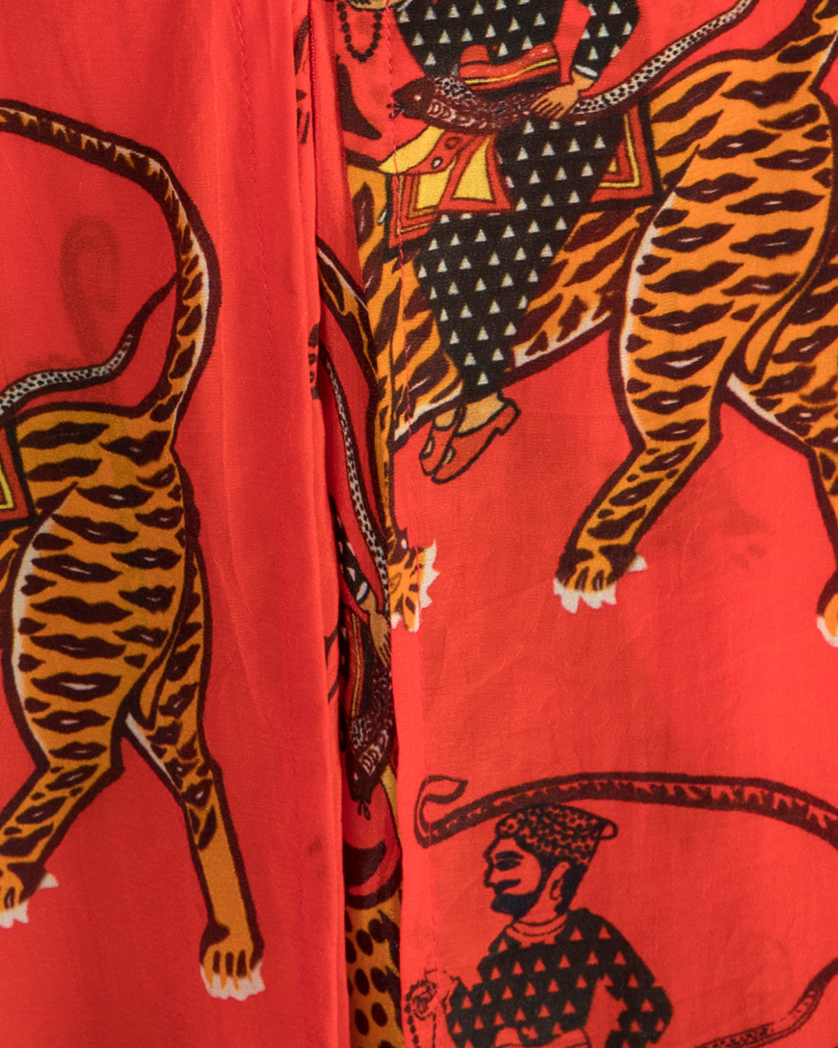 House of Masaba Printed Red Sultan Cowl Top and Dhoti