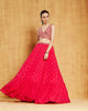 Hot Pink Mirror Lehenga
