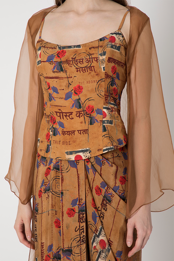 Brown Indian Printed Set