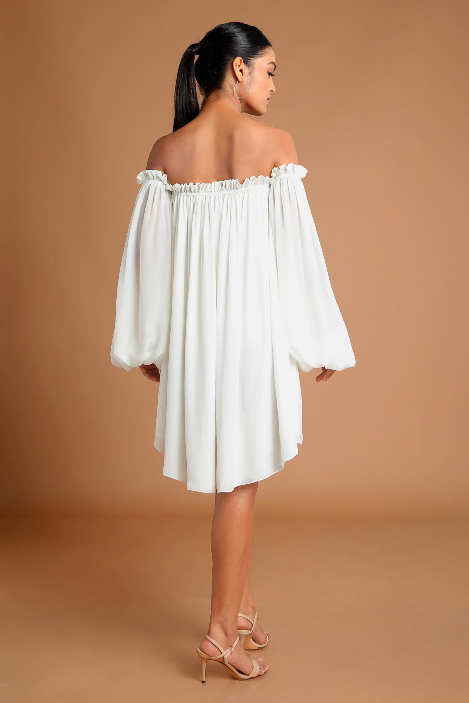 Summer White Off-Shoulder Dress| KYNAH x Masaba