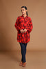 House of Masaba Red Relaxed with Collars Fit Top
