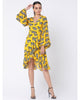 Yellow Blooming Cow Wrap Dress