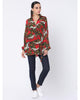 Red Fire of Forest Wrap Shirt