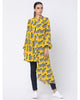 Yellow Blooming Cow Asymmetrical Shirt