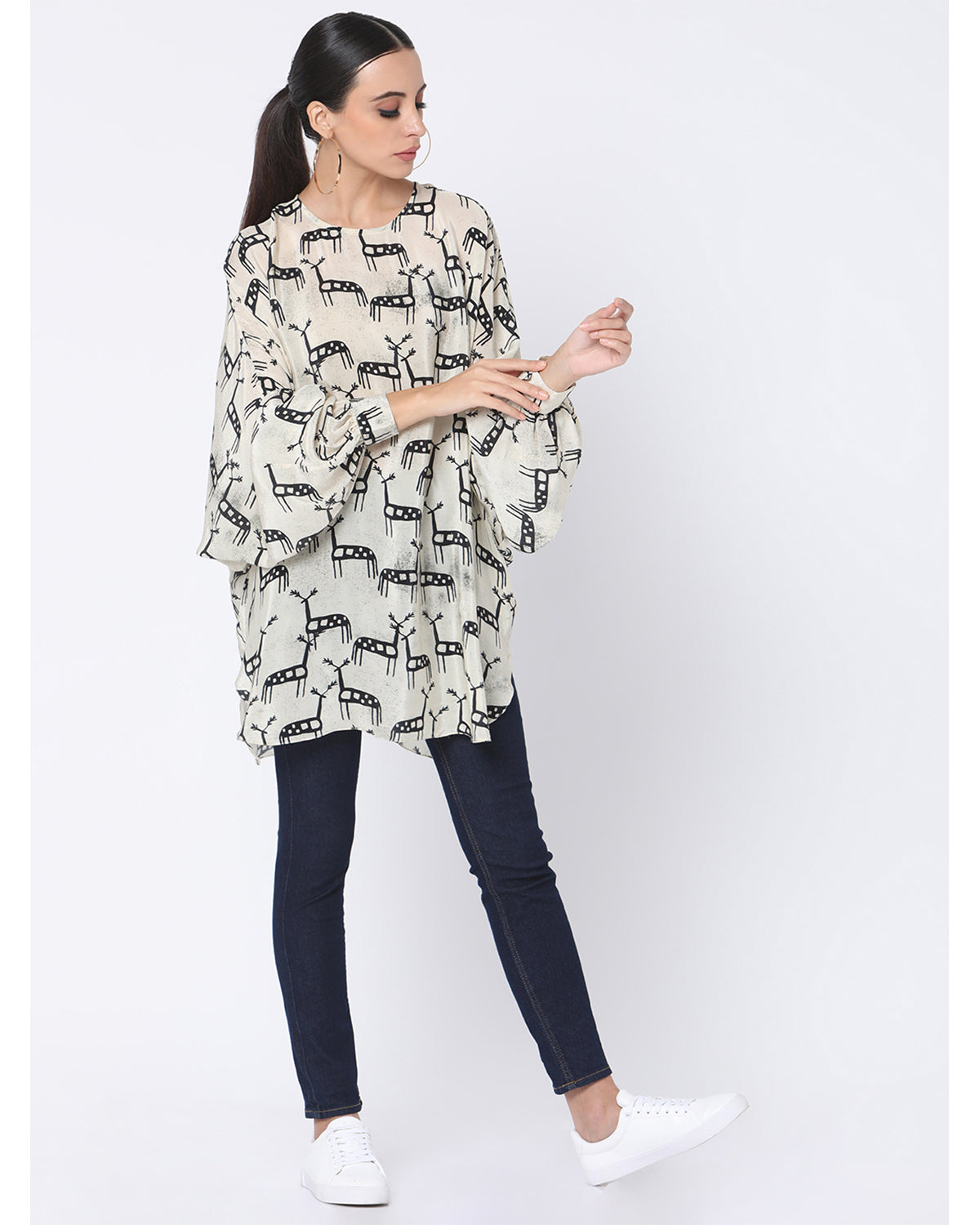 Deer In The Dark Circular Top