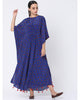 Blue Lotus In The Pond Circular Kaftan