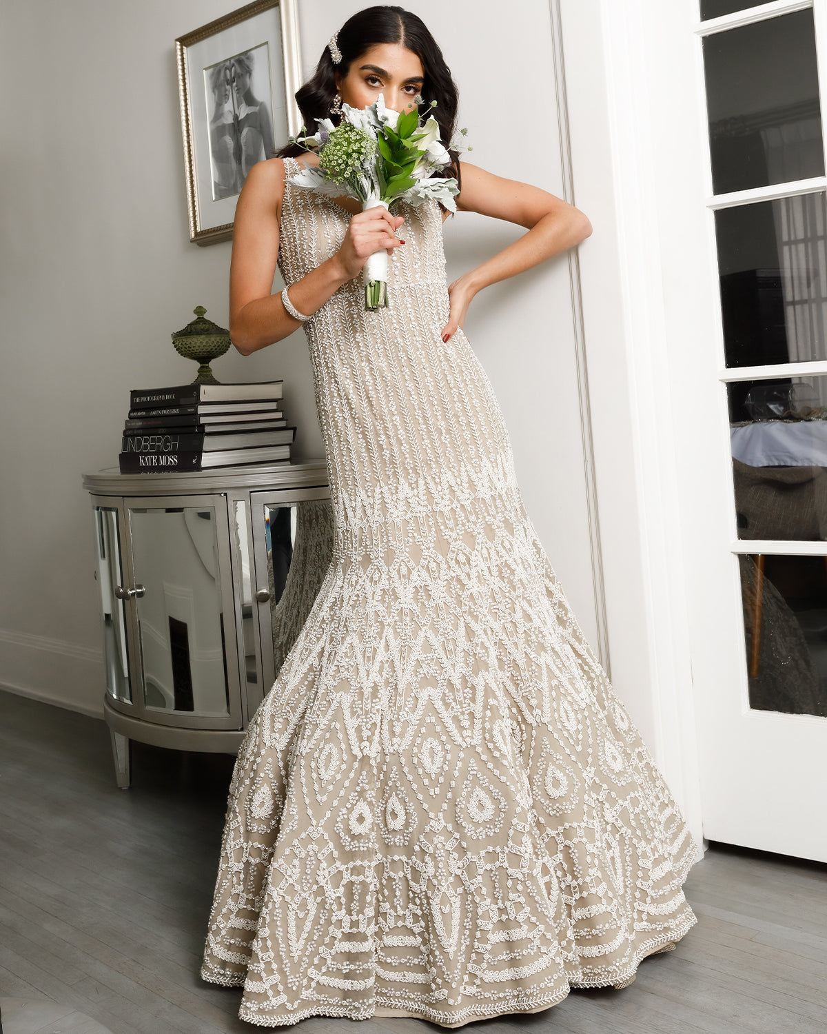 Fully Embellished Mermaid Bridal Gown