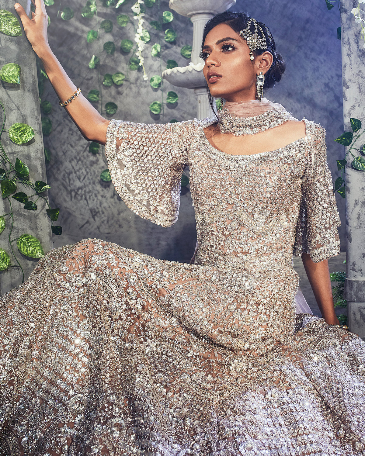 Dusted Rose Indian Bridal Gown