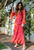 Pink and Orange Long Wrap Dress | KYNAH x Masaba