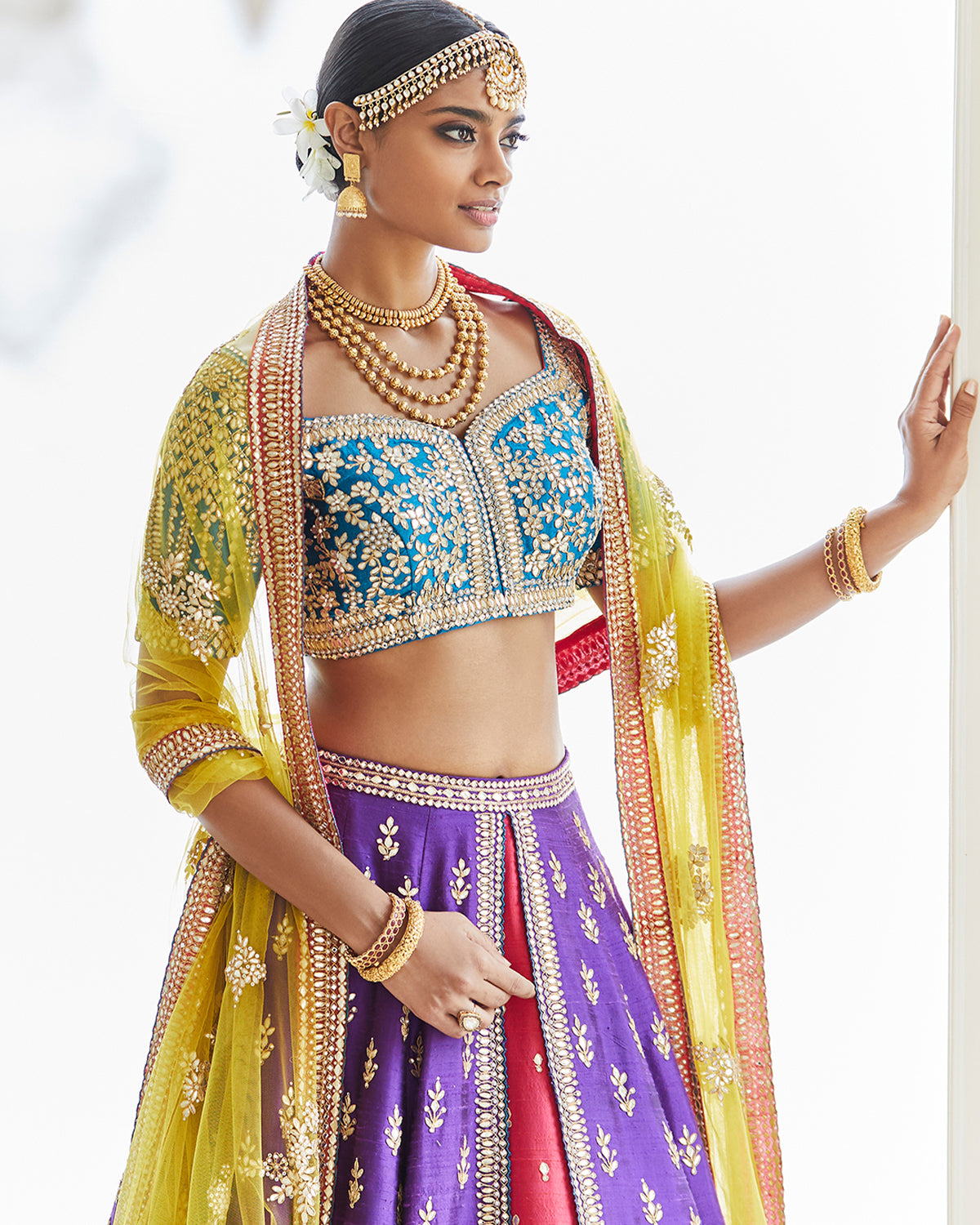 colorful bridal lehenga
