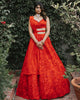 Red Rose Lehenga