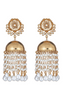 Gold Pearl Hanging Jhumkas | The Blossom Box