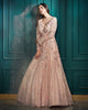 Peach floor length gown