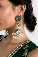 Aviva Earrings - Green