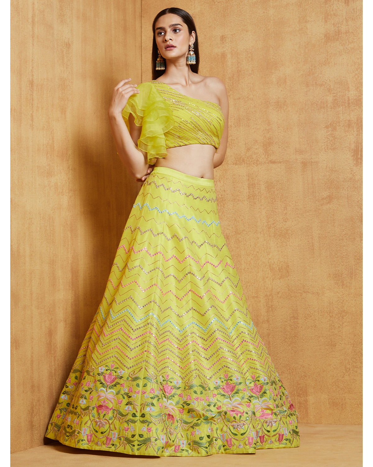 Noorjha with Tulips Lehenga