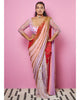 Pink and Red Pre-stitched Sari | Papa Don't Preach