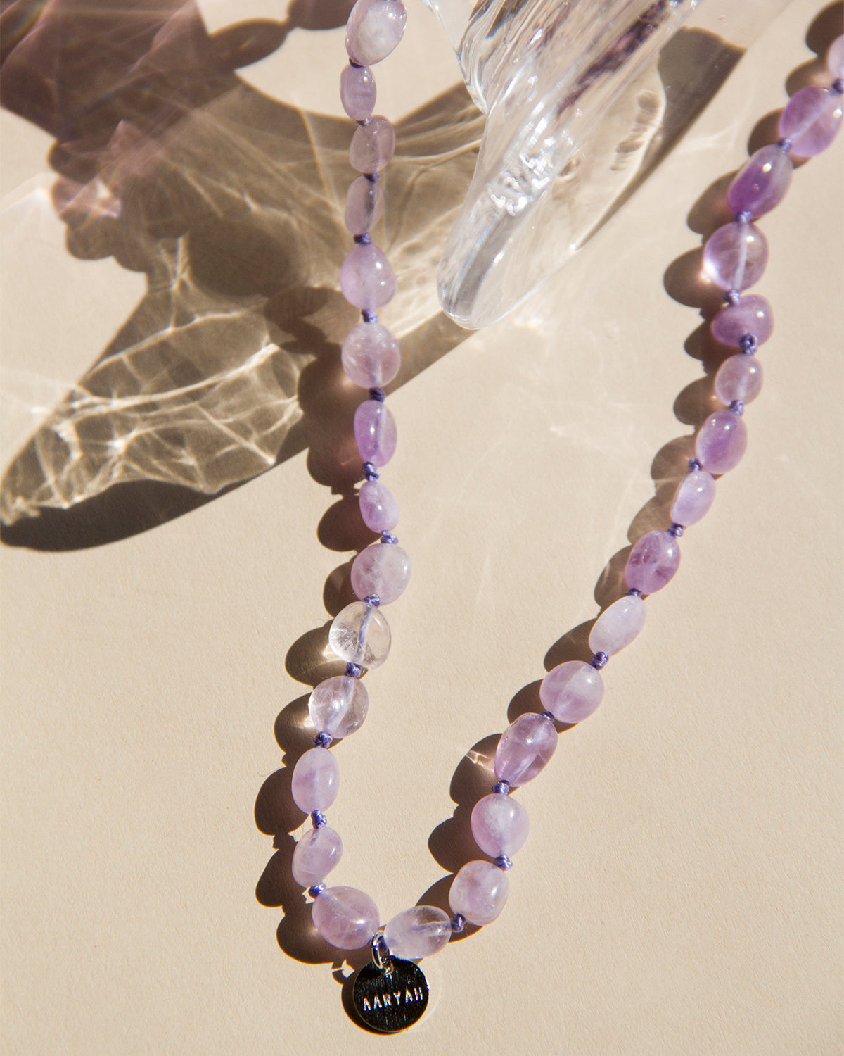 LAYLA Amethyst Beaded Mask Chain