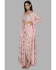 Light Pink Crinkle Cape Set