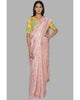 Light Pink & Yellow Foil Sari