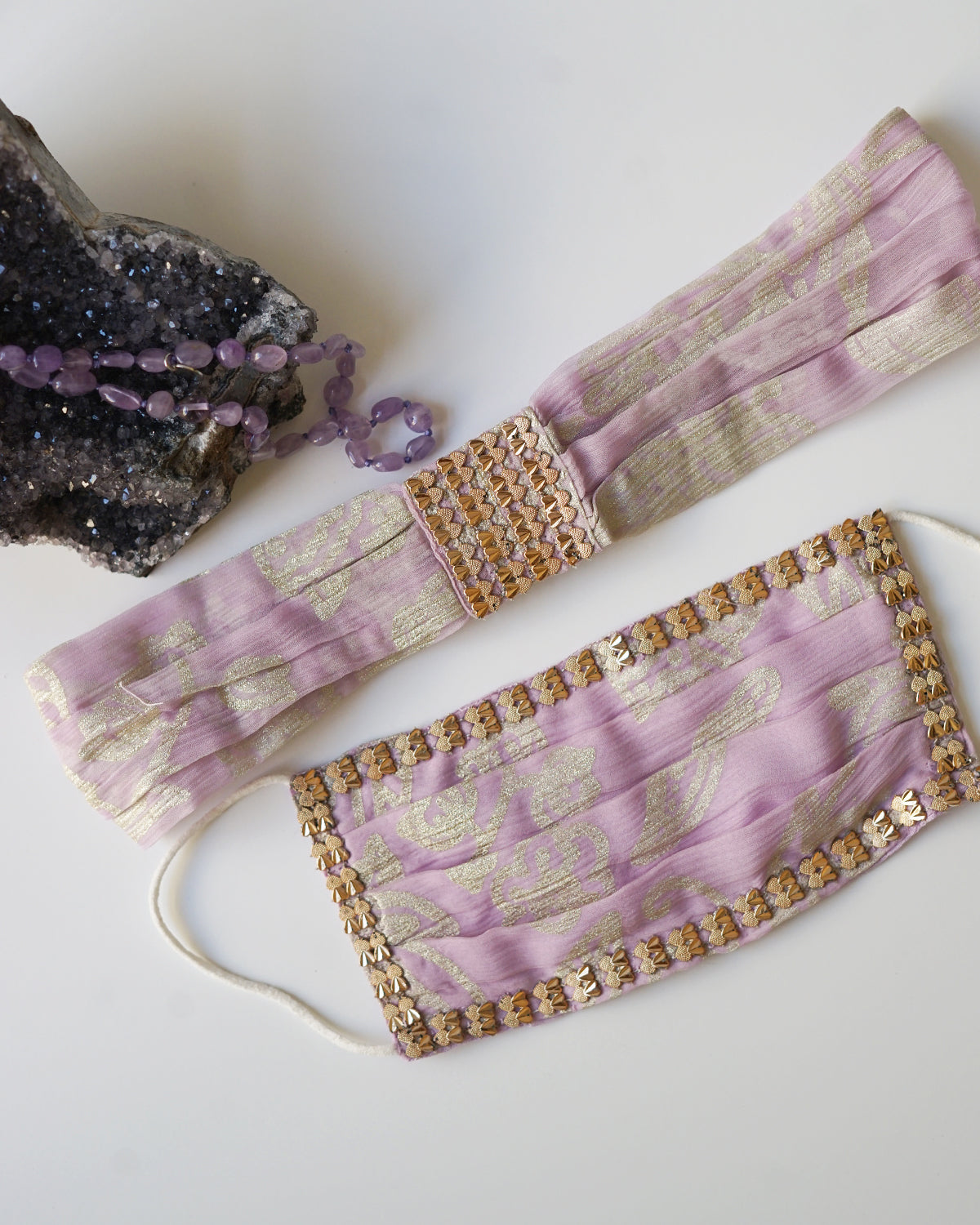 Lilac Mask and Headband Set